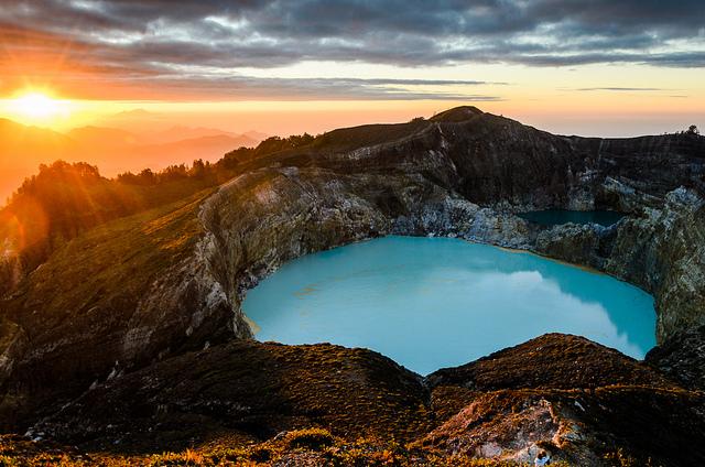 Kelimutu Lake On Flores island